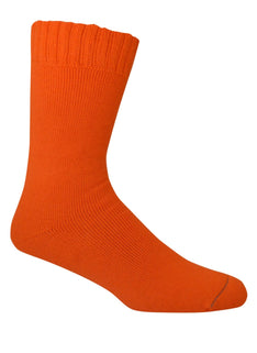 Extra Thick Orange Bamboo Socks - The Hippie House