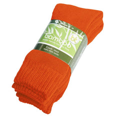 Extra Thick Orange Bamboo Socks - 3 Pack - The Hippie House