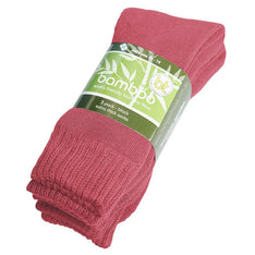 Extra Thick Pink Bamboo Socks - 3 Pack - The Hippie House