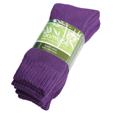 Extra Thick Purple Bamboo Socks - 3 Pack - The Hippie House