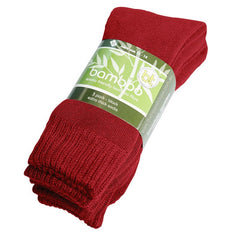 Extra Thick Red Bamboo Socks - 3 Pack - The Hippie House