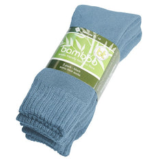 Extra Thick Sky Blue Bamboo Socks - 3 Pack - The Hippie House