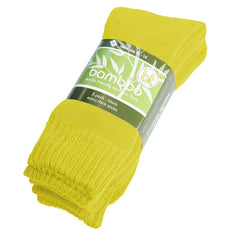 Extra Thick Yellow Bamboo Socks - 3 Pack - The Hippie House