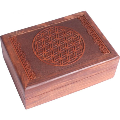 Flower of Life Wooden Box - The Hippie House