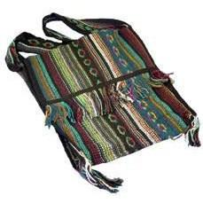 Fringed Shoulder Bag - Striped - The Hippie House