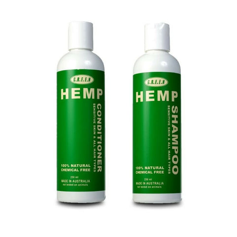 Green Hemp Shampoo And Conditioner Set - 250ml - The Hippie House