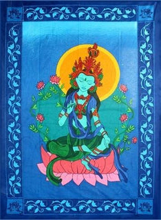 Green Tara Tapestry - The Hippie House