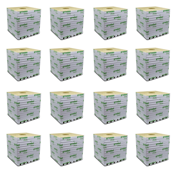 Grodan Rock Wool Cube - 15 X 15 X 14cm - Pack Of 16 - The Hippie House