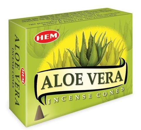HEM - Aloe Vera - 120 Incense Cones - The Hippie House