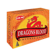 HEM - Dragons Blood - 120 Incense Cones - The Hippie House
