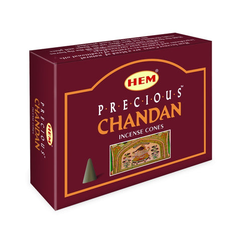 HEM - Precious Chandan - 120 Incense Cones - The Hippie House