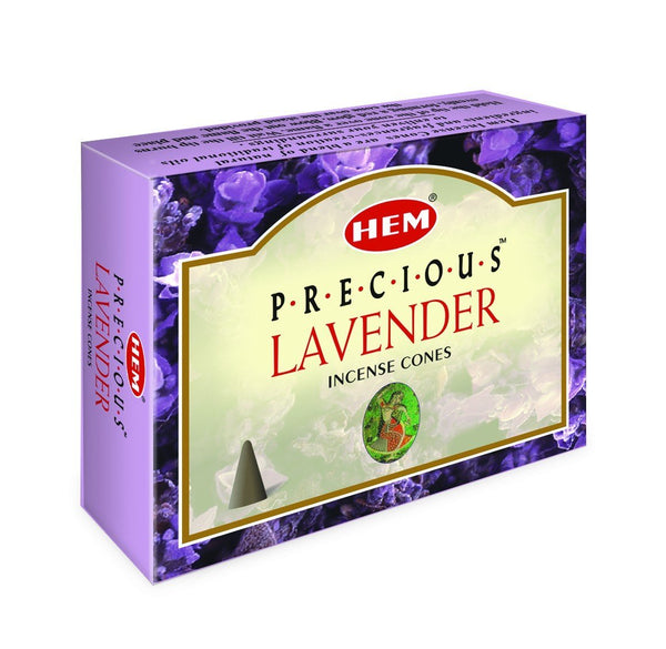 HEM - Precious Lavender - 120 Incense Cones - The Hippie House