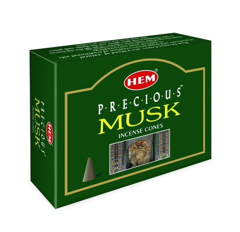 HEM - Precious Musk - 120 Incense Cones - The Hippie House
