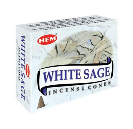 HEM - White Sage - 120 Incense Cones - The Hippie House