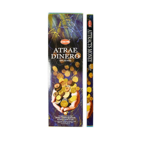 HEM Attracts Money Incense Sticks - 200 Sticks - The Hippie House