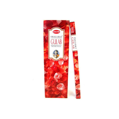 HEM Precious Gulab (Rose) Incense Sticks - 200 Sticks - The Hippie House