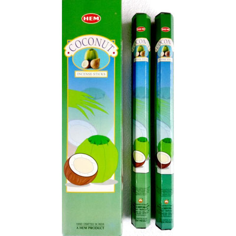 Coconut Garden Incense Sticks - HEM - Box Of 6 - The Hippie House