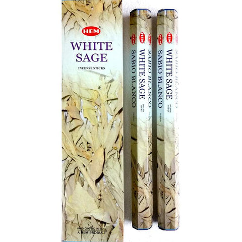 White Sage Garden Incense Sticks - HEM - Box Of 6