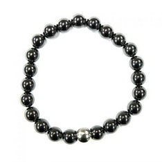 Hematite Crystal Bracelet With Stainless Steel Bead - The Hippie House
