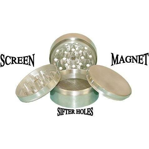 "2"" Metal 4pc Grinder With Screen - The Hippie House"