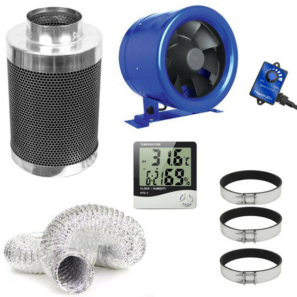 Hyper-Fan + Phresh Carbon Filter Ventilation Kit - 10 Inch - The Hippie House