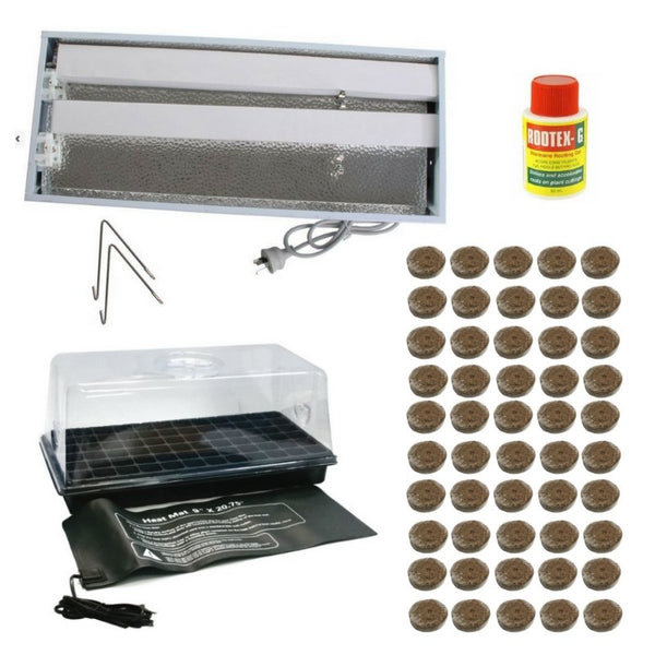 Indoor Coco Propagation Kit - PL Fluorescent - For Seeds + Smaller Plants - The Hippie House