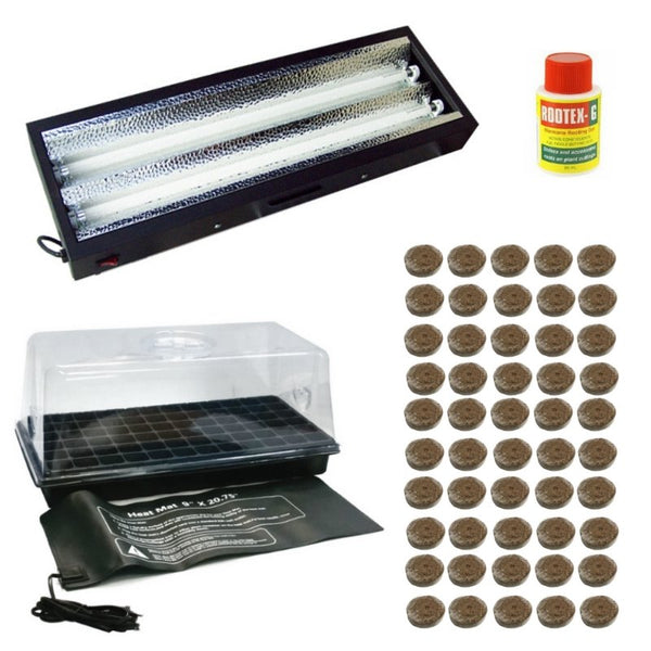 Indoor Coco Propagation Kit - T5 Fluorescent - For Seeds + Smaller Plants - The Hippie House