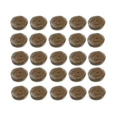 Jiffy Coco Pellets - 42mm - Pack Of 25 - The Hippie House