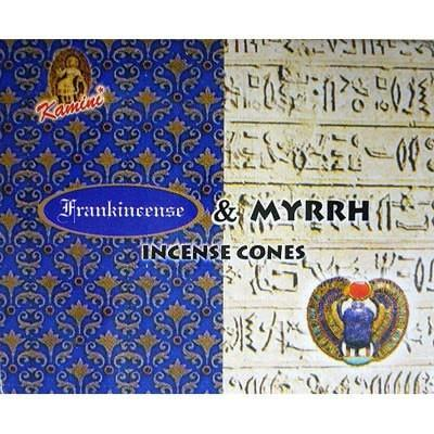 Kamini Incense Cones - Frankincense Myrrh - The Hippie House