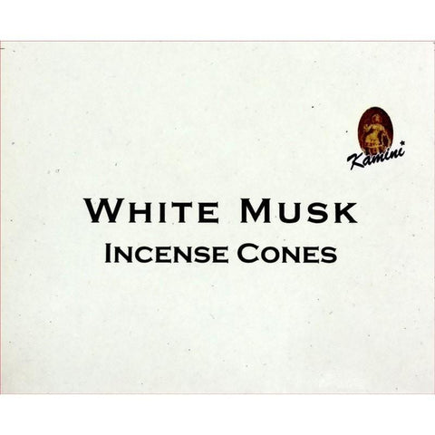 Kamini Incense Cones - White Musk - The Hippie House