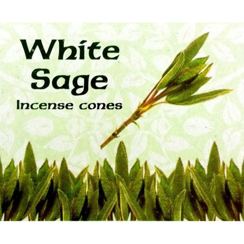 Kamini Incense Cones - White Sage - The Hippie House