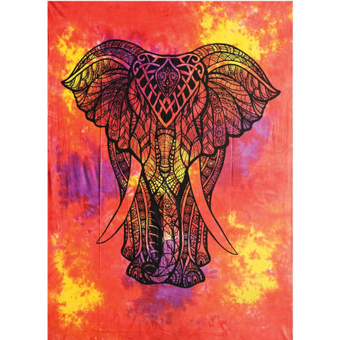 King Elephant Tapestry - Assorted Colours - The Hippie House