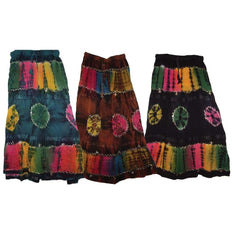 Lace Tie Dye Skirt - Assorted Colours - The Hippie House