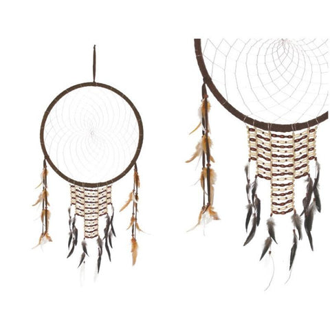 Large Traditional Indian Tribal Designed Dream Catcher - The Hippie House