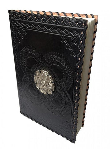 Leather Black Note Book - Medallion - The Hippie House