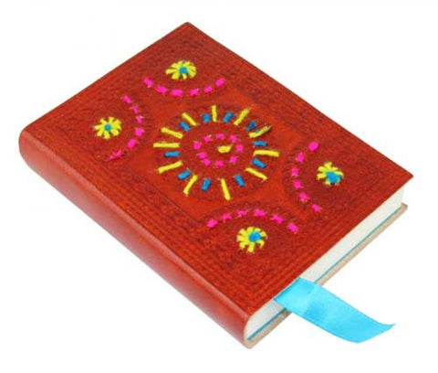 Leather Journal With A Star Stitch - The Hippie House