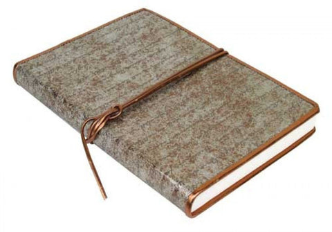 Leather Note Book With Vintage Copper Feel - The Hippie House