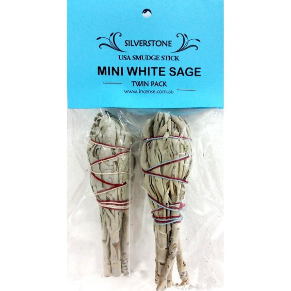 Mini White Sage Smudge Sticks- Twin Pack - The Hippie House