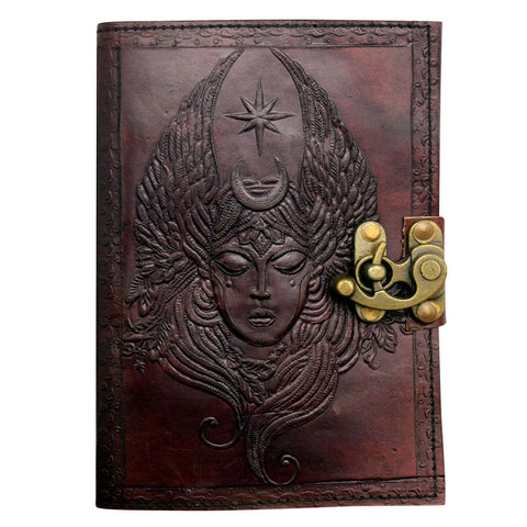 Moon Goddess Leather Journal - The Hippie House