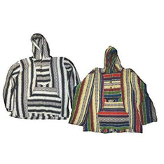 Multicolored Indian Baja Hoodie Jacket - The Hippie House