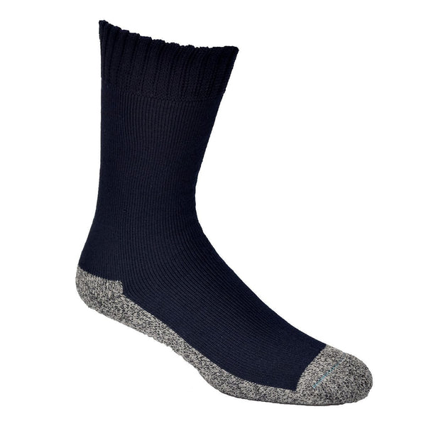 Navy Bamboo Work Socks With Charcoal Sole - The Hippie House