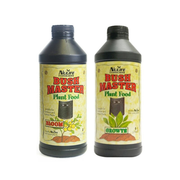 Nulife Bushmaster Grow + Bloom Nutrient Set - 1L - The Hippie House
