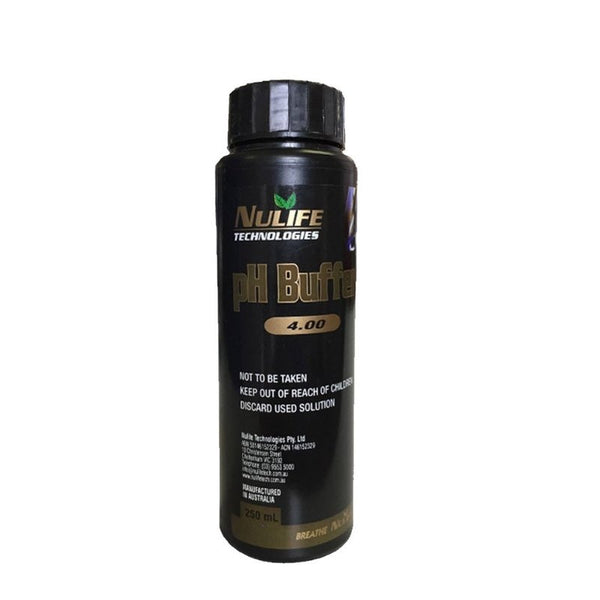 Nulife pH Buffer 4 - 250ml - The Hippie House