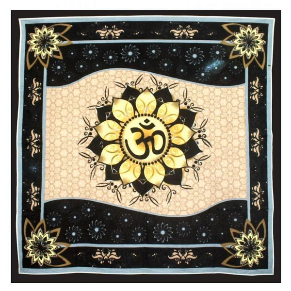 Om in Lotus Altar Cloth - The Hippie House