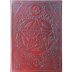 Pagan Pentacle Leather Journal - The Hippie House