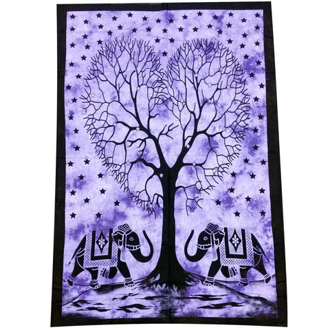 Purple Heart Shaped Tree Tapestry - The Hippie House