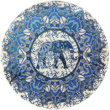 Round Elephant Flower Mandala Tapestry - The Hippie House