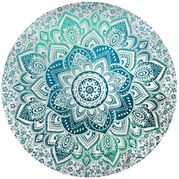 Round Lotus Mandala Tapestry - The Hippie House