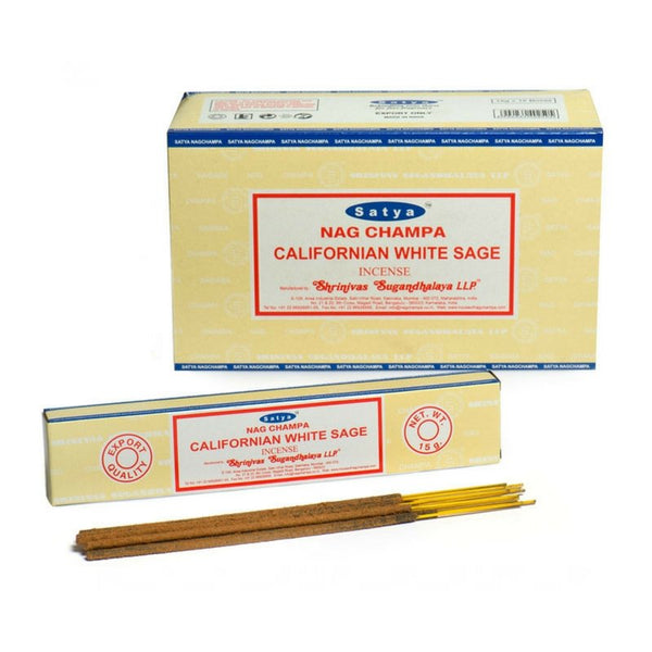 Satya Californian White Sage Incense Sticks - 180 Grams - The Hippie House