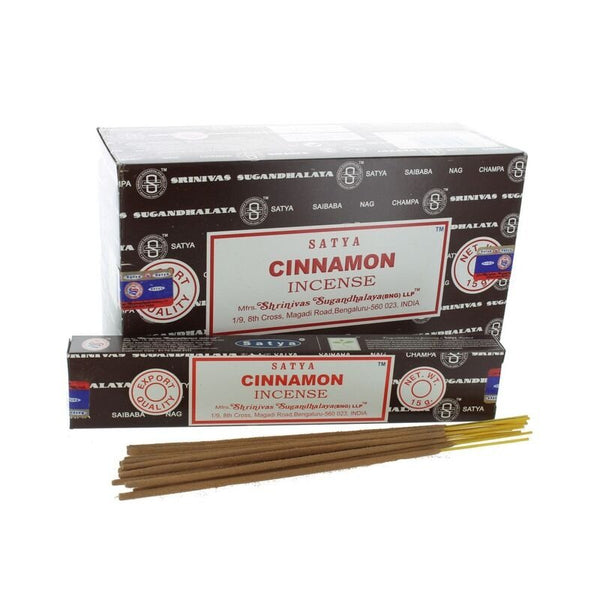 Satya Cinnamon Incense Sticks - 180 Grams - The Hippie House